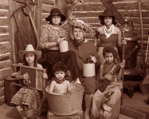 Hillbilly Themed Family Portrait