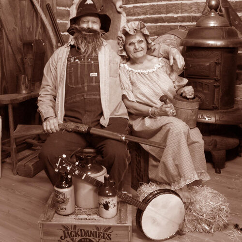 Couple in a Hillbilly Themed Costume