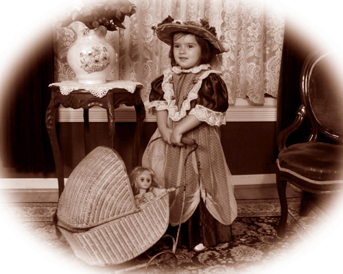 Young Girl in a Victorian Costume