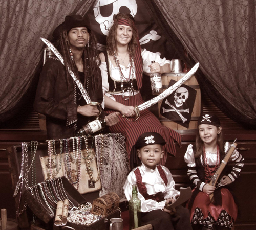 Pirate Themed Vintage Family Portrait