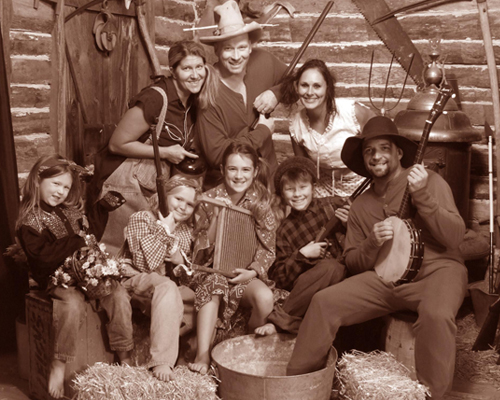 Family in a Hillbilly Themed Portrait