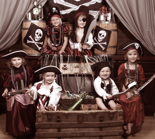 Children Dressed in Pirate Costumes