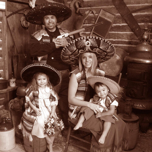 Vaqueros Themed Young Family Portrait
