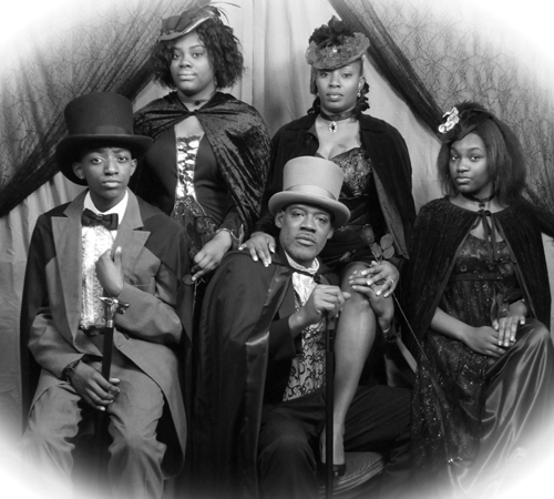 Vampire Themed Vintage Family Portrait