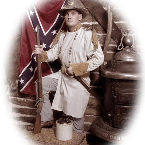 Man in a Civil War Costume