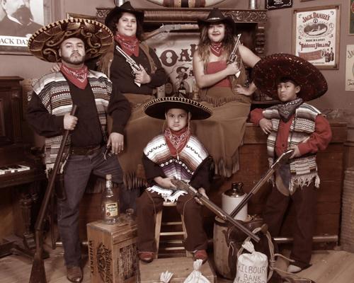 Vaqueros Themed Family Portrait