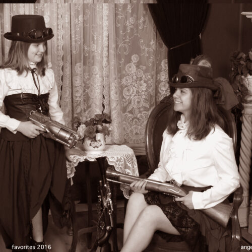 Steampunk Themed Shoot for Sisters