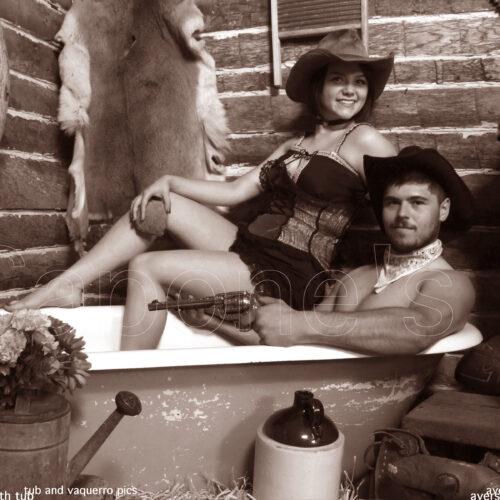 Cowboy Themed Tub Pictorial