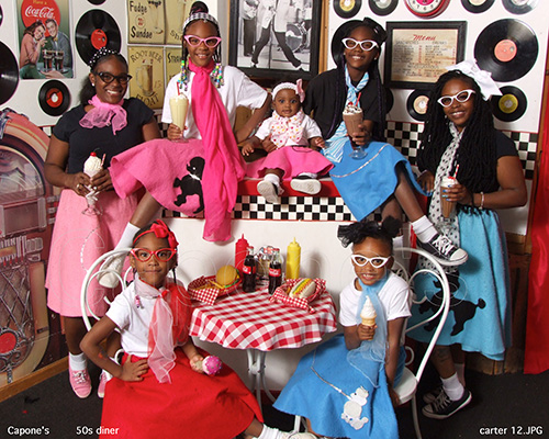 Girls in 50s Outfit
