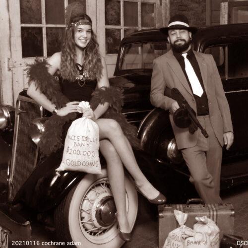 Bank Heist Photoshoot with Car