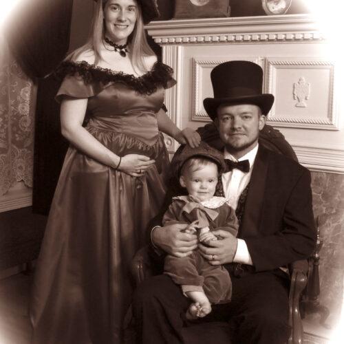 Victorian Themed Family Photo