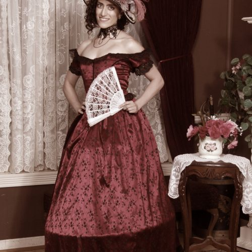 Woman in a Victorian Dress