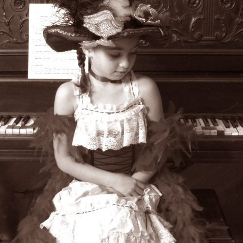 Little Girl with Piano