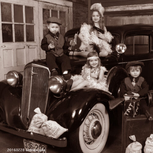 Cute Kids Shoot with Car