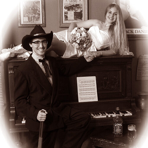 Couple in a Vintage Piano
