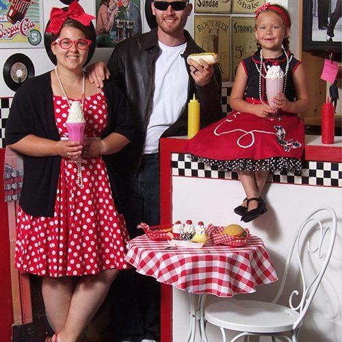 50s Diner Family Photo