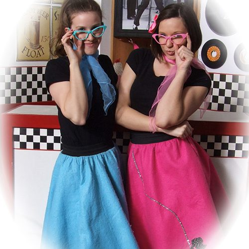 Two Ladies in 50s Diner Outfit