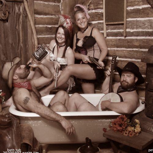 People Enjoying the Tub