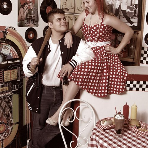 Couple in 50s Diner
