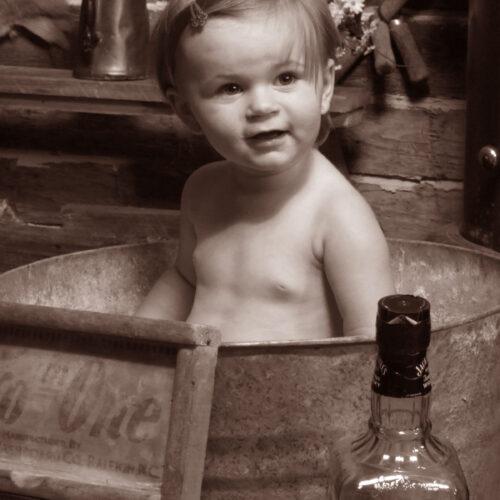 Young Boy in the Bath