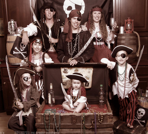 Pirate Themed Family Portrait