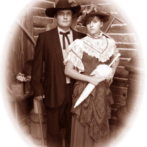 Cabin Themed Couple Portrait