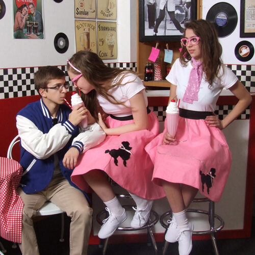 Young People in an Old Diner