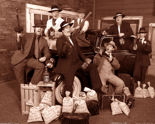 Vintage Gangster Style Group Photo