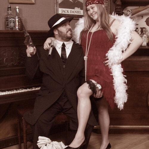 Steampunk Style Couple Portrait