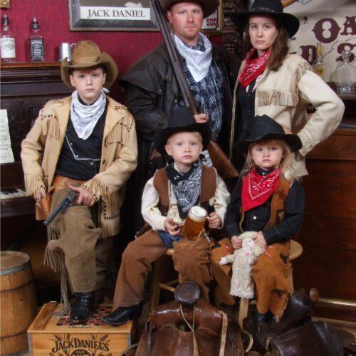 Vintage Saloon Family Portrait
