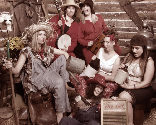 Young Women in a Hillbilly Themed Portrait