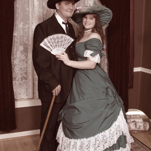 Victorian Theme Costume of a Couple