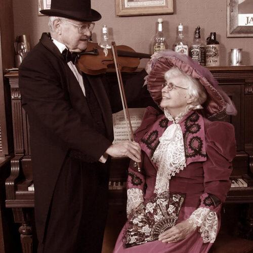 Steampunk Themed Couple Portrait