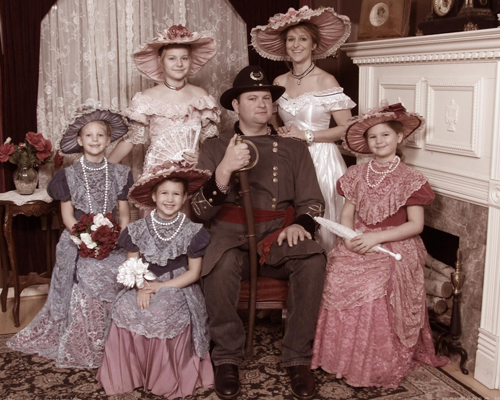 Civil War Themed Family Portrait