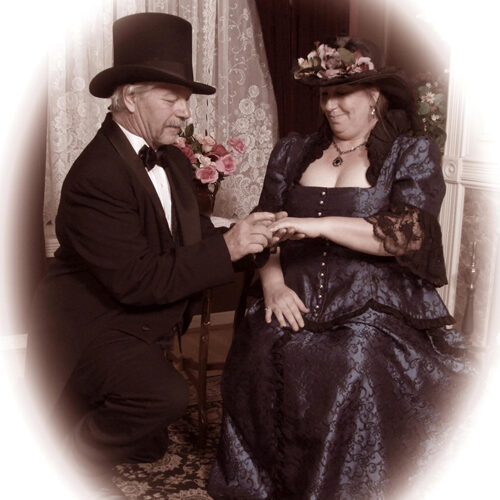 Couple Dressed in Vintage Costumes