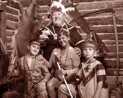 Family Wearing Native Costumes