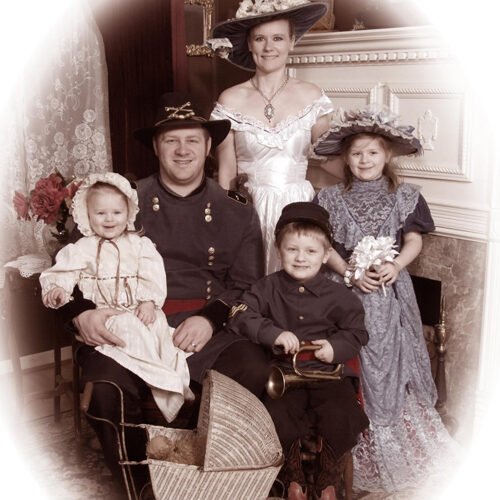 Family in a Civil War Themed Photo