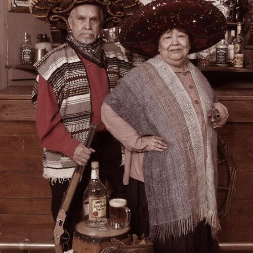 Vaqueros Themed Couple Portrait