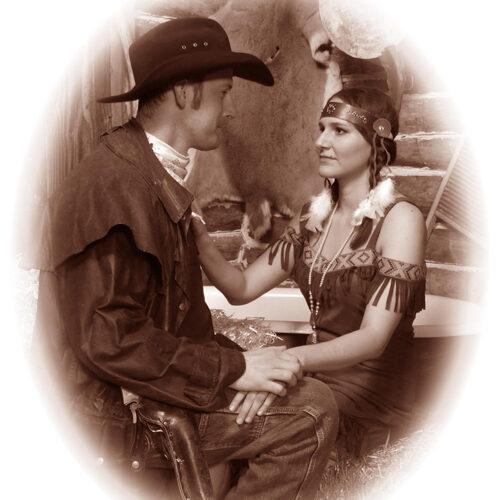 Couple in a Native Theme Costume