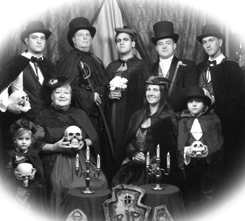 Vampire Themed Family Portrait
