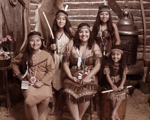 Women in Native Style Costumes
