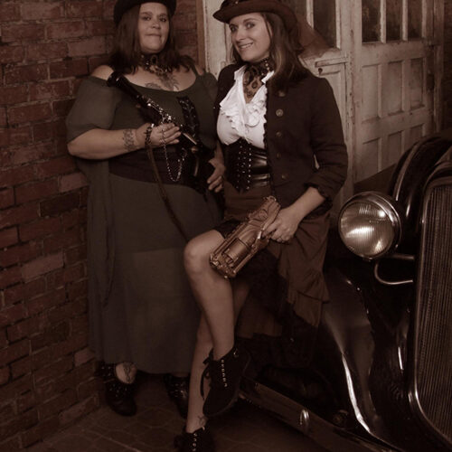 Women in Steampunk Costumes