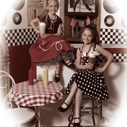 Vintage 50s Outfit of Little Girls