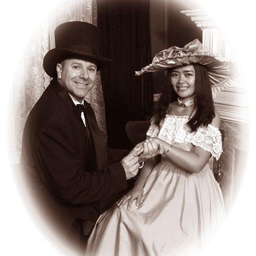 Couple in Vintage Portrait
