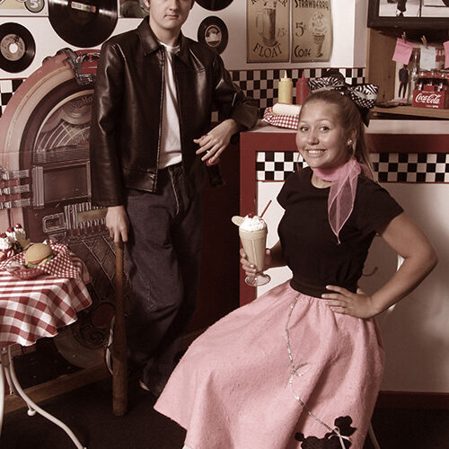Kids in 50s Outfit