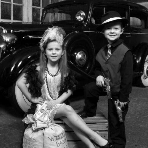 Cute Kids Bank Heist Shoot