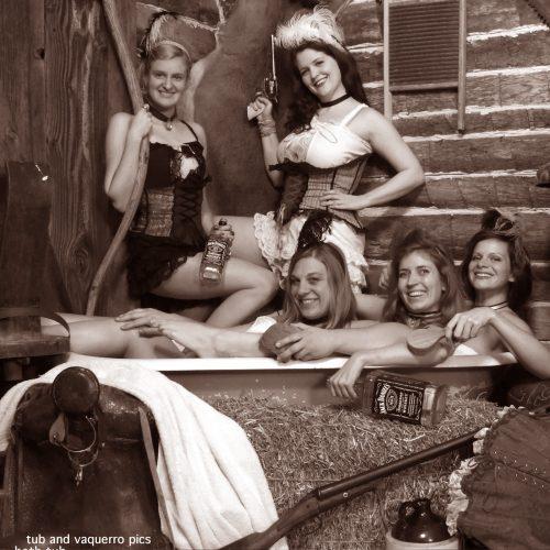 Girls in One Tub