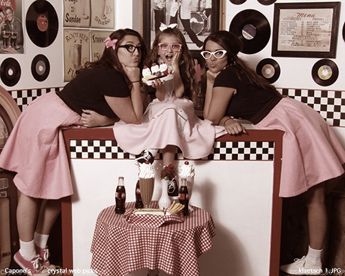 Girls in 50s Themed