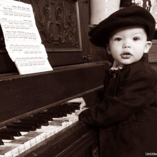 Baby Piano Themed Shoot