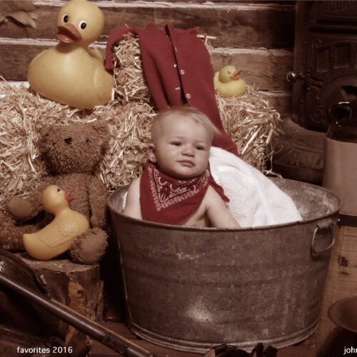 Toddler in a Tub